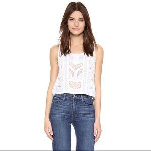 Anthropologie dRA Rosie Top White Size XS NWT